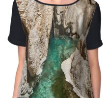 Lake inside of a cave Chiffon Top