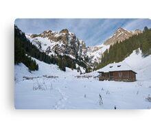 Mountain landscape on wintertime Metal Print