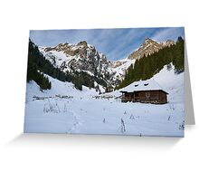 Mountain landscape on wintertime Greeting Card