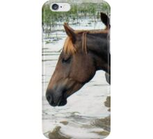 "Horses with Attitude no. 7 ""Race Ya Across the Pond, Joe. Loser Buys a Round!"" iPhone Case/Skin"