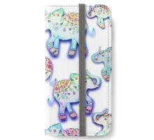LUCKY ELEPHANTS MIX by Monika Strigel iPhone Wallet/Case/Skin