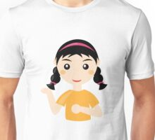Comic girl person student art Unisex T-Shirt