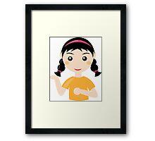 Comic girl person student art Framed Print