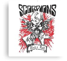 SCORPIONS - SKULL OF ROCK AND ROLL Canvas Print