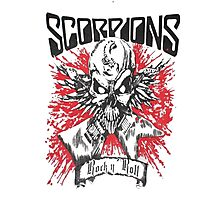 SCORPIONS - SKULL OF ROCK AND ROLL Photographic Print
