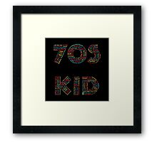 70s Kid Framed Print