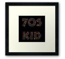70s Kid Framed Print