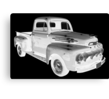 Black And White 1951 Ford F-1 Pickup Truck  Canvas Print