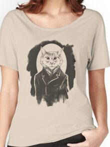Cat on Canvas Women's Relaxed Fit T-Shirt
