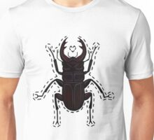 Hand Stitched - Stag Beetle Unisex T-Shirt