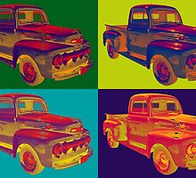 Colorful 1951 Ford F-1 Pickup Truck Pop Art  by KWJphotoart