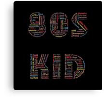 80s Kid Canvas Print