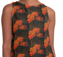 Orange Flowers Painted Contrast Tank