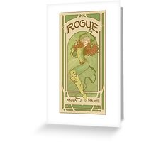 Art Nouveau Rogue Greeting Card