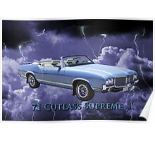 Oldsmobile Cutlass Supreme Muscle Car Poster