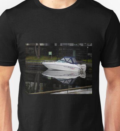 Evening Boat Reflection Unisex T-Shirt