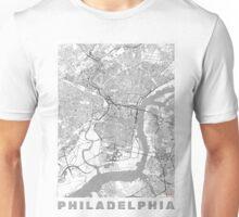 Philadelphia City Map Line Unisex T-Shirt