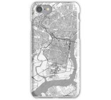 Philadelphia City Map Line iPhone Case/Skin
