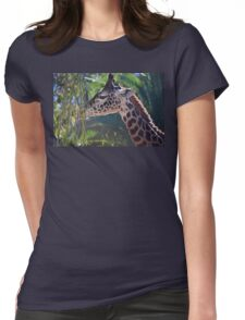 San Diego Zoo Giraffe Womens Fitted T-Shirt