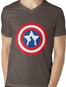 Cap's Shield Mens V-Neck T-Shirt