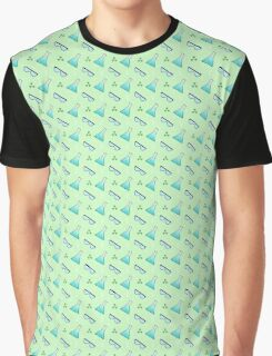 Science Pattern (Green) Graphic T-Shirt