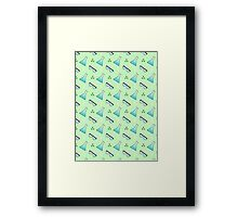 Science Pattern (Green) Framed Print