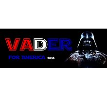 Draft Vader - Darth Vader for President Alternate Design Photographic Print