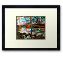 Library at the National Museum, Amsterdam, Netherlands Framed Print