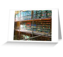 Library at the National Museum, Amsterdam, Netherlands Greeting Card