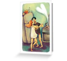 Wake up and Waltz&Coffee Greeting Card