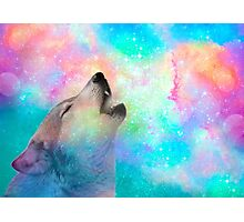 Breathing Dreams Like Air (Wolf Howl Abstract I: Mint) Photographic Print