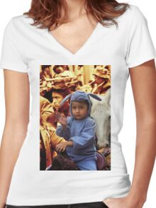 Cuenca Kids 808 Women's Fitted V-Neck T-Shirt