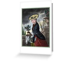 Allegory of December - Christmas Greeting Card