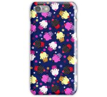Cute Colorful Cupcakes Seamless Pattern-Purple Tint iPhone Case/Skin