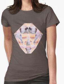 Sunset Face Womens Fitted T-Shirt