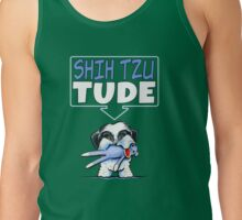 Shih Tzu Tude (Dark) Tank Top