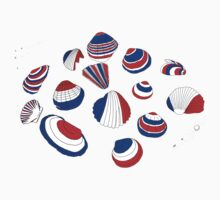 Tricolor Seashells Kids Tee