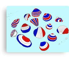 Tricolor Seashells Canvas Print