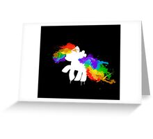 Water Colour Rainbow Dash Greeting Card