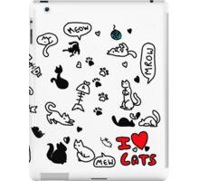 I Heart Cats iPad Case/Skin