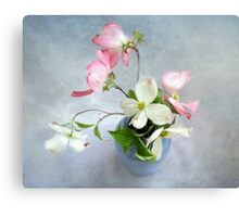 Pink and White Dogwood Still Life Canvas Print