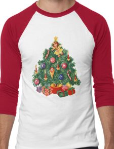 Ugly Christmas Sweater Retro Christmas Tree Men's Baseball ¾ T-Shirt