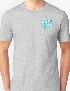 Small Blue Splatter Bass & Treble Cleff  Unisex T-Shirt