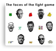 Conor Mcgregor - Faces of the fight game Canvas Print