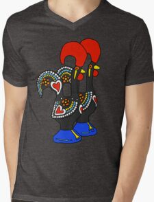 Portuguese Rooster Couple Mens V-Neck T-Shirt