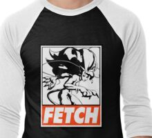 Felicia Fetch Obey Design Men's Baseball ¾ T-Shirt