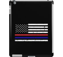Thin Blue Red Line Flag iPad Case/Skin
