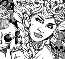 Marie Antoinette - Let Them Eat Cake Illustration Sticker