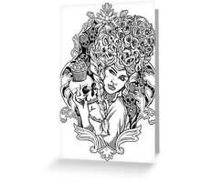 Marie Antoinette - Let Them Eat Cake Illustration Greeting Card