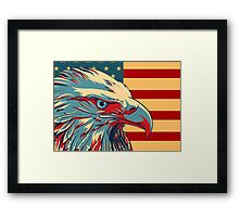 American Patriotic Eagle Bald Framed Print